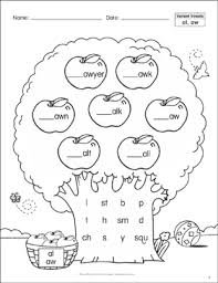 Our free phonics worksheets are colors, simple, and let kids understand phonics in a natural way through fun reading and speaking activities. Variant Vowels Al Aw Phonics Tree Printable Skills Sheets