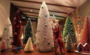 At home: Wilber's retro aluminum Christmas trees