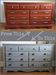 dresser makeover with americana decor chalky finish paint average but inspired