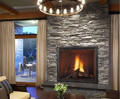 image of stone fireplace wall contemporary