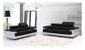 Small Picture Black and White Leather Sofa Set for a Modern Living Room EVA