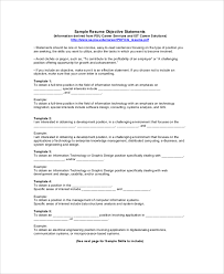 Resume Objective Sample Sample Resume Objective Statement