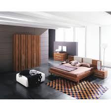Platform Bedroom Sets With Modern Wood Bed Sets With Long Headboard Bed  With Wood Bedroom Furniture Design With Gray Painting Bedroom Wall Then  Carpet For ...