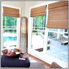 dimension bamboo shades for sliding glass doors window treatments blinds french