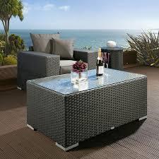 rattan garden coffee table