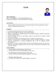 Nuclear Procurement Engineer Sample Resume