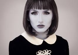 lady gray grayscale makeup you