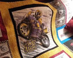 Motorcycle quilt   Etsy & Valentines Gift Gift for Him Motorcycle T-shirt Quilt Boyfriend Gift Wall  Hanging Man Cave Adamdwight.com