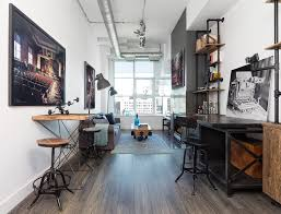office industrial design. Industrial Design Home Office With Stools Long Room