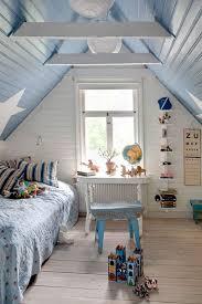 shabby chic boys' attic room
