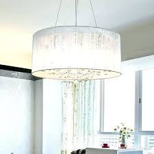 fabric pendant lamp shades light lights modern fashion shade crystal chandelier ceiling