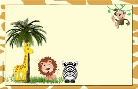 Free Printable Safari Birthday Invitations Pin By Margie Ramsbottom On African Theme Safari Printables Free