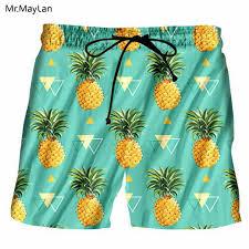 Online Shop <b>Hipster 3D Print</b> Fruits Pineapples Men Boardshorts ...