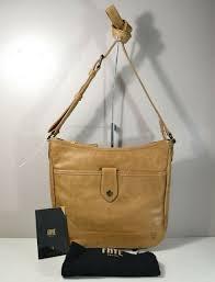 nwt frye melissa on beige leather wallet cross purse db127