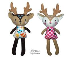 Dolls And Daydreams Embroidery Designs Ith Big Caribou Reindeer Pattern Dolls Daydreams Kids