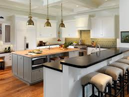 image of small kitchen islands with breakfast bar