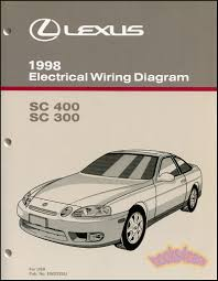 lexus sc300 shop service manuals at books4cars com 98 sc400 sc300 electrical wiring diagram shop manual by lexus for sc 400 300 98 sc wire