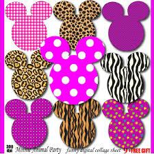 Leopard Print Party Decorations Minnie Clipart Animal Print Minnie Mouse Birthday Invitation