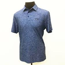 Under Armour Rival Polo Size Chart Under Armour Golf Mens Elevated Heather Polo Shirt Royal Blue Size Xl 19363 889706176949 Ebay
