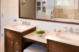 double vanity with makeup table. double sink vanity with makeup counter traditional bathroom idea throughout table ideas r