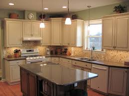 recessed lighting ideas for kitchen. minimalist kitchen style with recessed lighting design and light gray wooden cabinet also mosaic backsplash facing small granite ideas for t