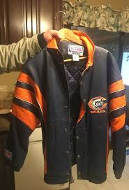 chicago bears proline athletic leather starter jacket vintage
