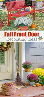 fall front door decorationsFront Porch Ideas to Warm up Your Fall