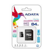 THẺ NHỚ ADATA 64GB MICRO SD CARD UHS-I CLASS10 – Máy Tính Biên Hòa