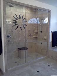Shower Door screen shower doors photographs : Glass Shower Door Tub Cream Ceramic Wall Complete Round Head ...