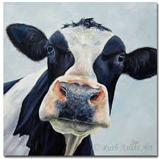canvas cow painting pictures living room modern oil painting wall decoration animal painting murals art wall