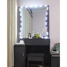 10 ft lighted mirror led light for cosmetic makeup vanity kit with dimmer lighted mirror h88 lighted