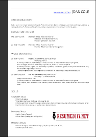 Correct Resume Format 2017