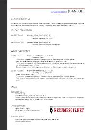 Format For Resume 2017
