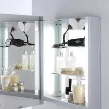 mirror bathroom cabinet with shaver socket