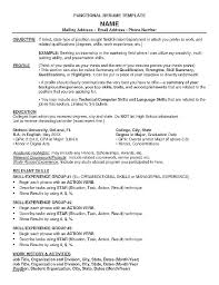 Show Examples Of Resumes Resume Format Examples Resume Functional ...