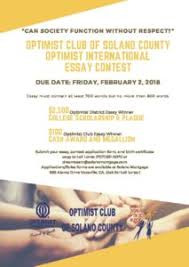 optimist international essay contest topic can society flyer
