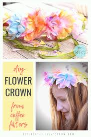 this flower tiara uses flowers that you won t believe are made from coffee filters