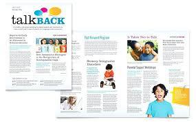 Microsoft Office Publisher Newsletter Templates Office Newsletter Template Speech Therapy Education Word Publisher