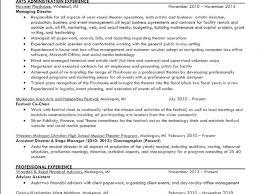 Art Administrator Sample Resume Fresh Art Administrator Sample Resume Homey Inspiration And Theater 13