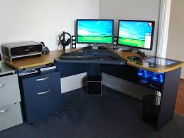 desktop computer furniture. Computer Completely Built Into Desk With Some Creative Features. Cases Desktop Furniture