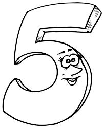 Coloriage Chiffre 5 Imprimer Sur Coloriages Info