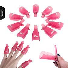 <b>10Pcs/Set Plastic Nail</b> Art Remover Wrap UV Gel Polish | Shopee ...
