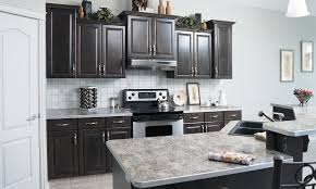 Gray Stained Kitchen Cabinets Gray Stained Cabinets In Kitchen Quicuacom