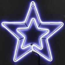 Weihnachtsstern 54x54 Cm Neon Stern Für Fenster Aussen Mit 360 Led