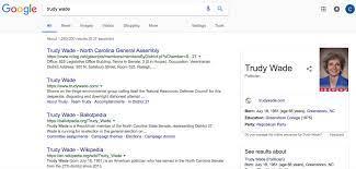 "Colin Campbell on Twitter: ""Looks like Google is not a fan of N.C. Sen. Trudy  Wade...… """