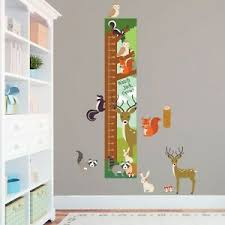 Woodland Growth Chart Details About Personalised Woodland Animals Cute Height Growth Chart 8 Vinyl Wall Stickers