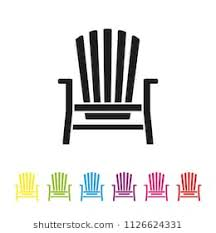 adirondack chair vector. Plain Vector Adirondack Deck Chair Vector Icon Summer Vacation And Seaside Resort  Symbol And Chair Vector O