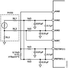 cn0383 circuit note analog devices Four Wire Rtd figure 4 analog inputs for 3 wire rtd measurement four-wire rtd measurement