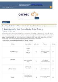 best online scrum master training websites