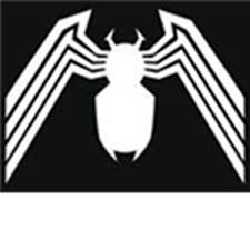 spider-man venom symbol blach t-shirt - Roblox